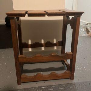 Vintage Walnut wooden wine caddy